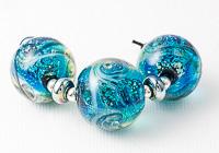 Large Swirly Lampwork Beads
