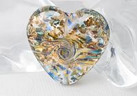 Glittery Heart Lampwork Bead