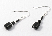 Black and Silver Earrings
