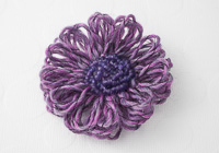 Purple Flower Brooch