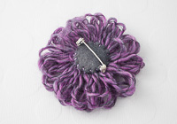 Purple Flower Brooch alternative view 1