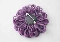 Purple Flower Brooch alternative view 1