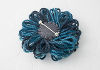 Petrol Blue Flower Brooch alternative view 1
