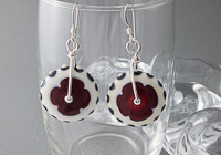 Red Wheel Lampwork Earrings alternative view 1