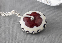 Lampwork Wheel Pendant Necklace alternative view 1