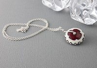Lampwork Wheel Pendant Necklace