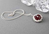 Lampwork Wheel Pendant Necklace