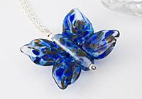 Blue Lampwork Butterfly Necklace