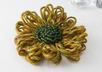 Ochre Flower Brooch