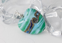 Sea Heart Lampwork Pendant alternative view 1