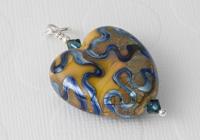 Earthy Heart Lampwork Pendant