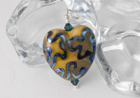 Earthy Heart Lampwork Pendant alternative view 1