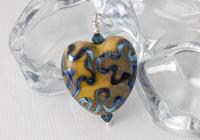 Earthy Heart Lampwork Pendant alternative view 1
