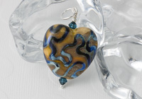 Earthy Heart Lampwork Pendant alternative view 2