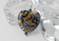 Earthy Heart Lampwork Pendant alternative view 2