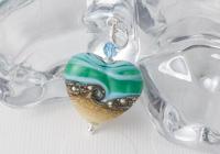Small Sea Heart Lampwork Pendant