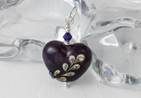 Purple Heart Lampwork Pendant