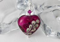Pink Heart Lampwork Pendant alternative view 2