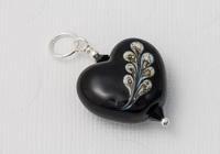 Black Heart Lampwork Pendant
