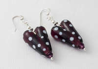 Dotty Heart Silver Earrings
