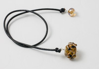 Amber Flower Bookmark