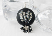 Black Leaf Pendant