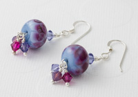 Periwinkle Lampwork Earrings