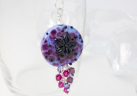 Flower Lampwork Pendant