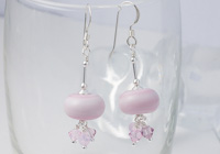 Pale Pink Lampwork Earrings