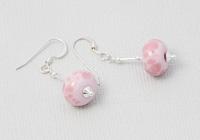 Pink Lampwork Earrings alternative view 1