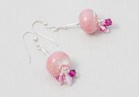 Pink Lampwork Earrings alternative view 1