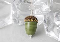 Lampwork Acorn Pendant