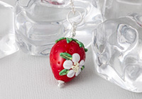 Lampwork Strawberry Pendant