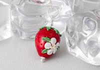 Lampwork Strawberry Pendant
