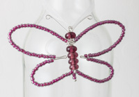 Pink Beaded Butterfly Decoration