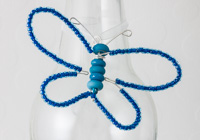 Turquoise Beaded Butterfly Decoration