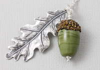 Oak Acorn Pendant Necklace