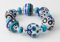 Blue Graphics Lampwork Beads