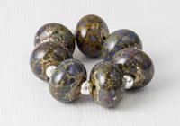 Purple Organic Lampwork Beads