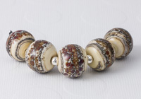 Cinnamon Coffee Lampwork Beads