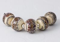 Cinnamon Coffee Lampwork Beads