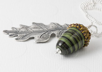 Acorn and Leaf Pendant