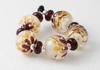Earthy Lampwork Dahlia Beads