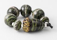 Acorn Lampwork Bead Set