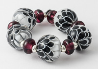 Black and White Dahlia Beads