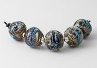 Silver Glass Organic Rainbow Beads
