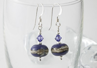 Lapis Blue Lampwork Earrings