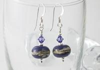 Lapis Blue Lampwork Earrings