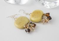 Honey Pebble Lampwork Earrings alternative view 1