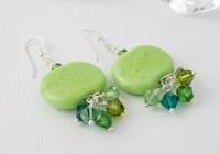 Green Pebble Lampwork Earrings alternative view 1